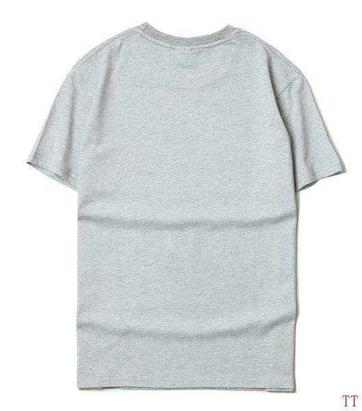 supreme 短t 2017新款 lv联名款纯色时尚男生圆领短袖t恤 薄荷绿